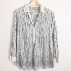Anthro Vanessa Virginia swing style tunic blouse